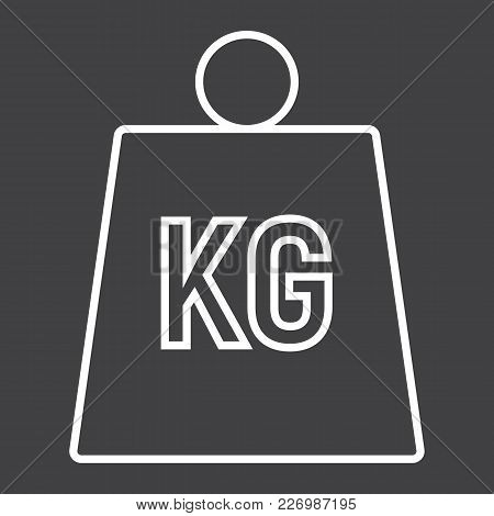 Weight Symbol Line Icon, Logistic And Delivery, Kilogram Sign Vector Graphics, A Linear Pattern On A