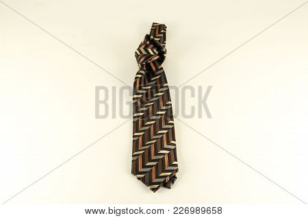 Close-up Of Necktie Cravat Object On A White Background