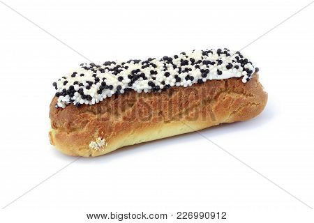 Choux Pastry Cake With Sprinkles Isolated On White