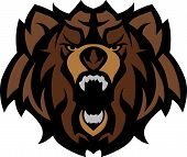 Graphic Mascot Image of a Black Bear Head poster