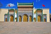 Ancient architecture of Royal palace, Fes, Morocco poster