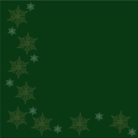 Christmas Green Background With Snowflakes For Christmas Greeting Or Background.