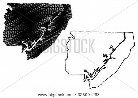 Jackson County, Alabama (counties In Alabama, United States Of America,usa, U.s., Us) Map Vector Ill