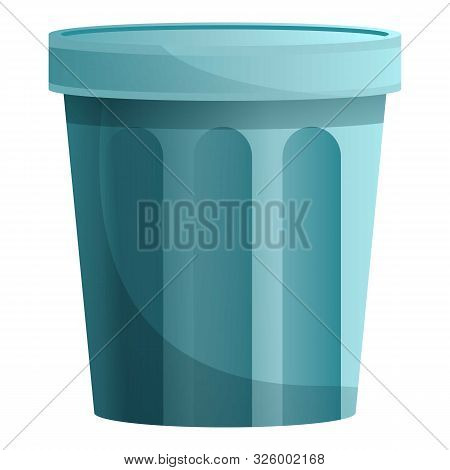 Empty Garbage Bin Icon. Cartoon Of Empty Garbage Bin Vector Icon For Web Design Isolated On White Ba