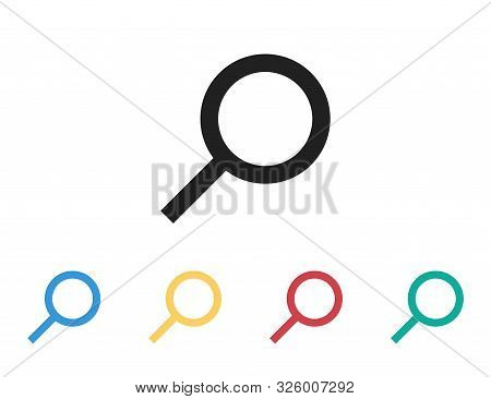 Loupe Isolated Vector Icon. Magnifying Glass Sign Or Simbol. Search Find Icon. Magnifier Lens Icon.