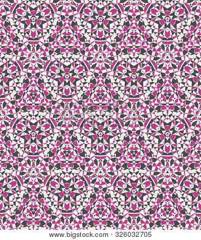 Abstract Geometric Background, Seamless Diamond Texture, Crystal Kaleidoscopic Pattern