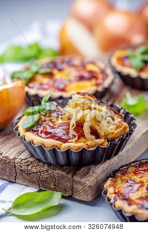 Homemade Mini Pies With Onions.