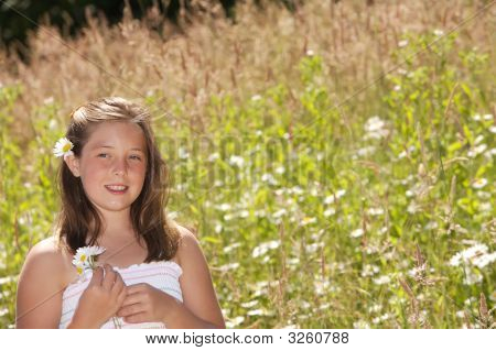 Happiness In A Field Of Daisies