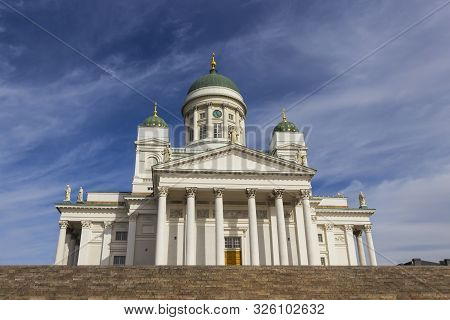 Helsinki Cathedral - Finnish Evangelical Lutheran Cathedral And One Of The Main Attractions Of Helsi