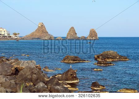 Cyclopean Isles In Aci Trezza Near Catania, Sicily, Italy