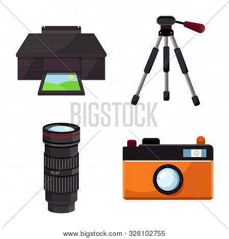 Isolated Object Of Studio And Photo Icon. Collection Of Studio And Equipment Vector Icon For Stock.