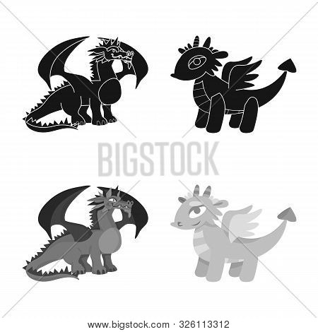 Vector Design Of Legend And Halloween Logo. Set Of Legend And History Stock Vector Illustration.