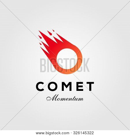 Letter O Comet Meteor Logo Vector Icon Illustration Design