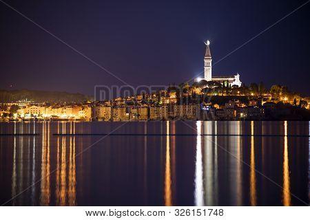 Night Landscape Of Rovigno Town