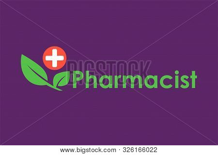 Green Pharmacy Logo Template. Phyto Therapy Nutritional Supplements. Green Leaves Herbal Medicine Ic