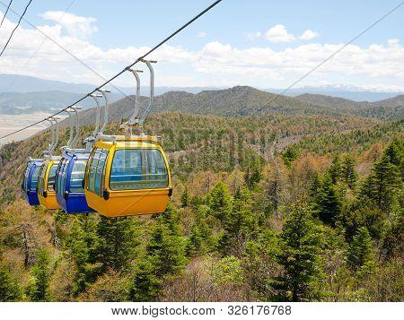 Cable Car Or Aerial Tram On Shika Snow Mountain, Shangri-la, Yunnan, China