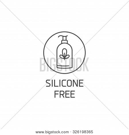 Vector Logo, Badge Or Icon For Natural And Organic Products. Eco Safe Sign Design. Silicone Free Sig