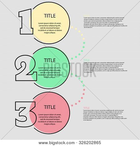 Simple Infographic Design Color Concept Eps 10 Vector