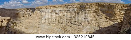 Canyon Ein Avdat In The Negev Desert Of Israel. Traveling In Israel. Panorama