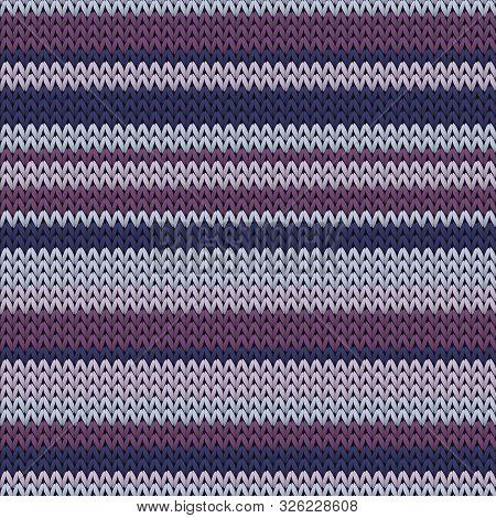 Chunky Horizontal Stripes Knit Texture Geometric Seamless Pattern. Scarf Knit Effect Ornament. Fashi