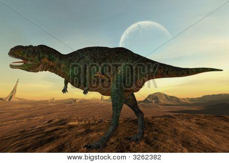 Render of an Aucasaurus - 3 D Dinosaur poster