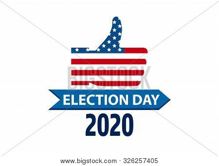 Vote 2020 Usa Thumbs Vector Photo Free Trial Bigstock