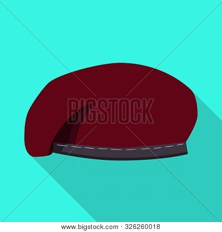Vector Design Of Hats And Commando Logo. Set Of Hats And Clothes Stock Symbol For Web.
