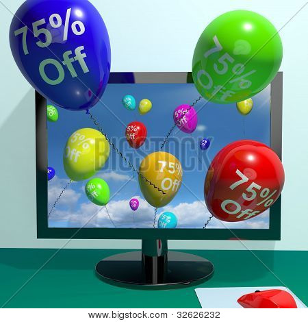 75% Off Balloons From Computer Showing Sale Discount Of Seventy Five Percent Online