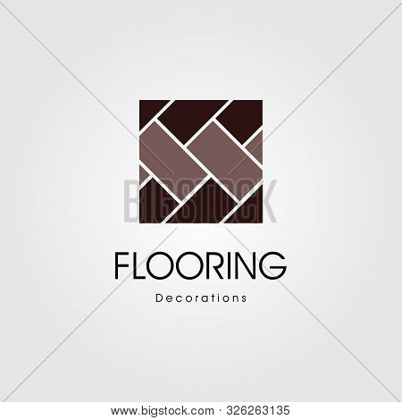Minimalist Parquet Flooring Vinyl Hardwood Granite Tile Logo Illustration