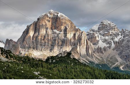 Dolomites Mountains In Italy. Beautiful Mountain Country.