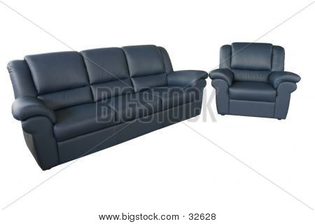 Blue Sofa And Couch