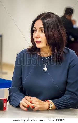 Knesset, Jerusalem, Israel. October 3, 2019. A Vertical Portrait Of Israeli Politician Miri Regev, M