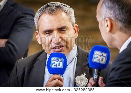Knesset, Jerusalem, Israel. October 3, 2019. Israeli Politician Zeev Elkin, A Minister Of Jerusalem