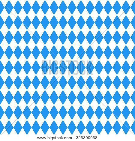 Oktoberfest Blue Abstract Geometric Background. October Festival. Vector Illustration, Blue Color. S