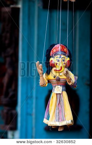 Handmade puppetry in Nepal