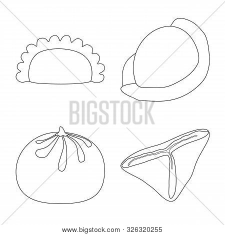 Vector Design Of Food And Dish Logo. Collection Of Food And Cooking Vector Icon For Stock.