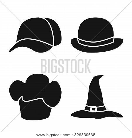 Isolated Object Of Beanie And Beret Logo. Collection Of Beanie And Napper Stock Symbol For Web.