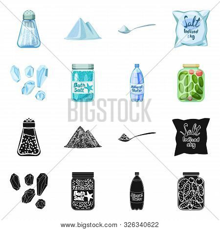 Vector Illustration Of Cooking And Sea Icon. Set Of Cooking And Baking Stock Symbol For Web.