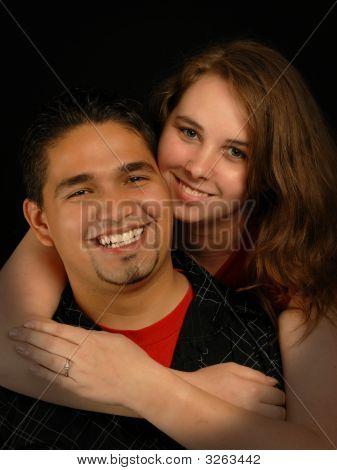 Young Ethnic Mixed Engaged Couple