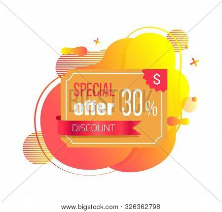 Special Offer Discount 30 Percent Off Vector, Sale And Proposition From Shop, Plastic Credit Card On