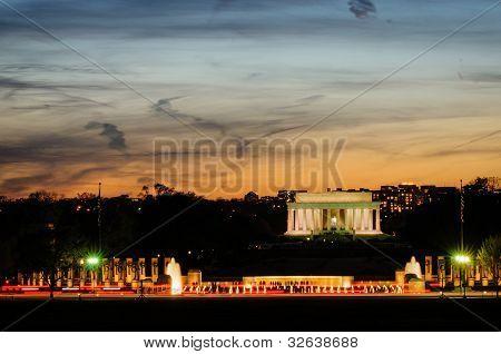 Memorial at sunset