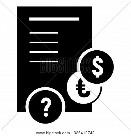 Paper Paycheck Icon. Simple Illustration Of Paper Paycheck Vector Icon For Web Design Isolated On Wh