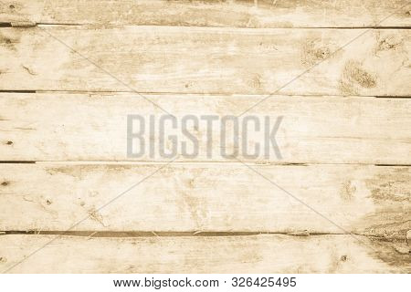 Old Grunge Wood Plank Texture Background. Vintage Brown Wooden Board Wall Have Antique Cracking Styl