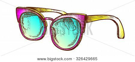 Glasses Fashion Correction Accessory Retro Vector. Female Optical Diopter Glasses For Safe Or Good V