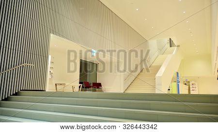Szczecin,poland. 4 October 2019. Modern Interiors Of The Szczecin Philharmonic Building