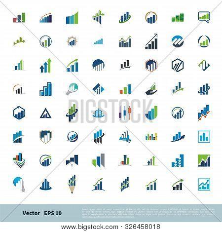 Set Finance, Insurance, Advisory Stock Exchange Vector Logo Template Illustration Design. Vector Eps