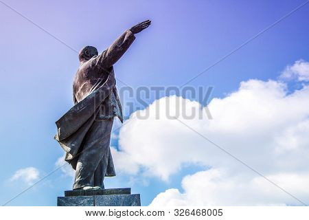 Monument To Lenin. Lenin Is A Theorist Of Marxism, Who Creatively Developed It In The New Historical