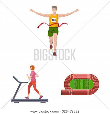 Vector Design Of Step And Sprint Sign. Collection Of Step And Sprinter Stock Symbol For Web.