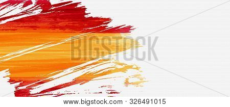 Abstract Grunge Brushed Watercolor Flag Of Spain. Holiday Template Background - For National Holiday