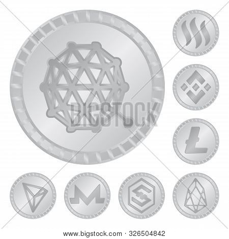Vector Design Of Cryptography And Finance Icon. Set Of Cryptography And E-business Vector Icon For S